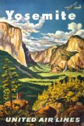 Vintage Travel Poster Yosemite National Park